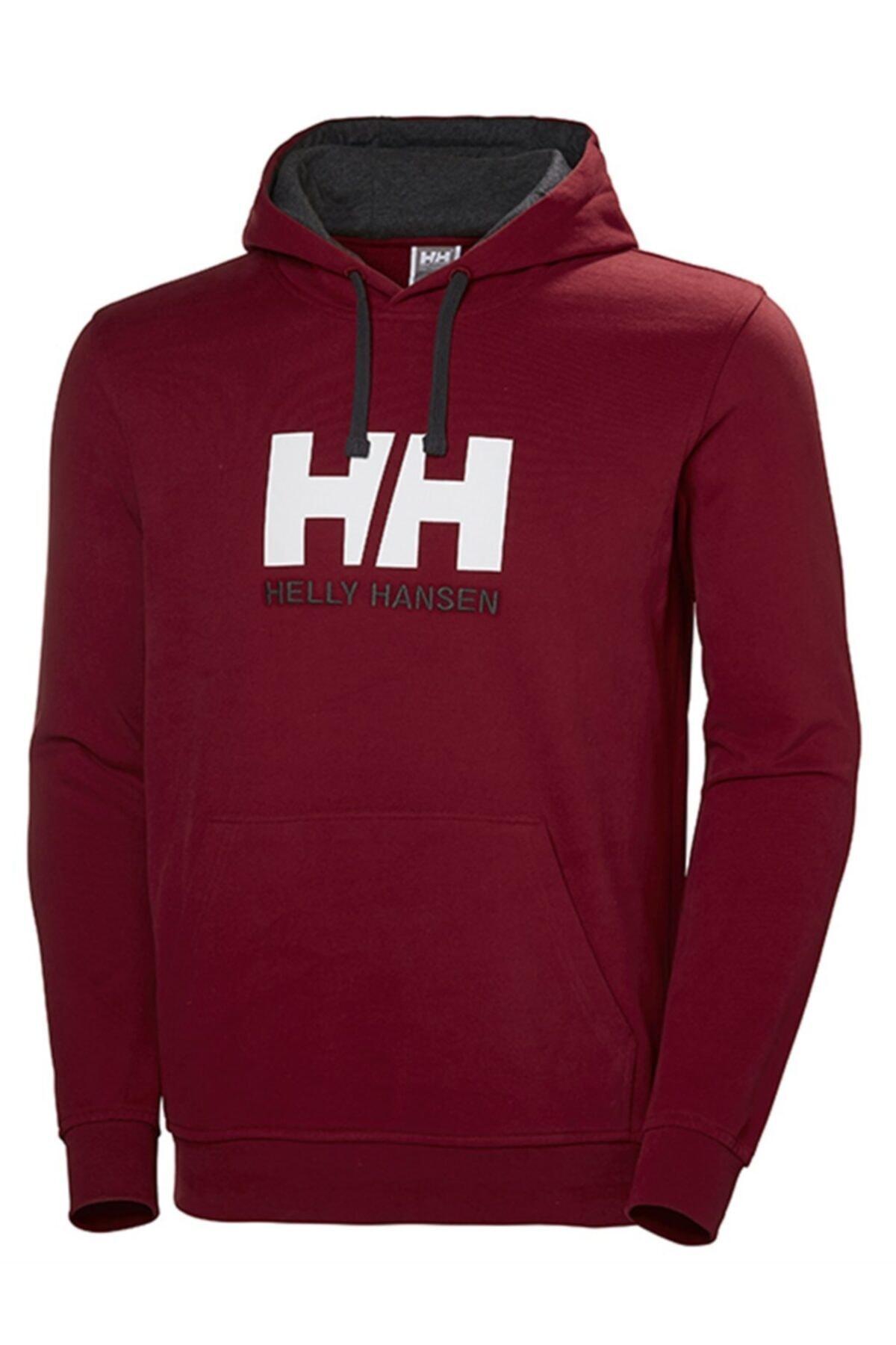 Helly Hansen Erkek Bordo Logo Baskılı Sweatshirt 1