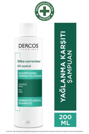 Vichy Dercos Oil Control Aşırı Yağlanmaya Karşı Etkili Bakım Şampuanı 200 ml 3337871311346
