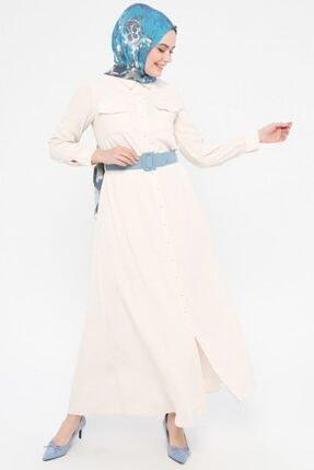 Tuğba Kadın Ekru Tesettür Elbise
