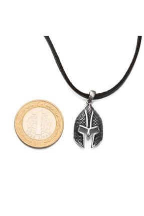 Anı Yüzük Erkek Miğfer Uçlu Gümüş Kolye