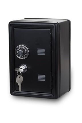 ELBA Para Kasası Şeklinde Metal Kilitli Kumbara - Siyah
