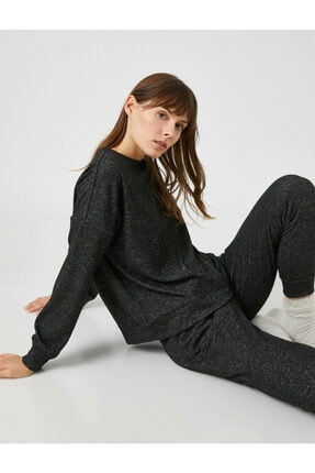 Koton Kadın Antrasit Pijama Üstü 1KLK73629OK