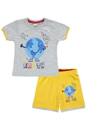 Civil Baby Erkek Bebek Şortlu Takım 6-18 Ay Gri
