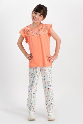 ROLY POLY Kız Çocuk Turuncu Kısa Kol Pijama Takımı Rp1795-1-v1