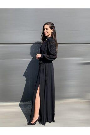 AYHAN Işleme Detay Şifon Elbise