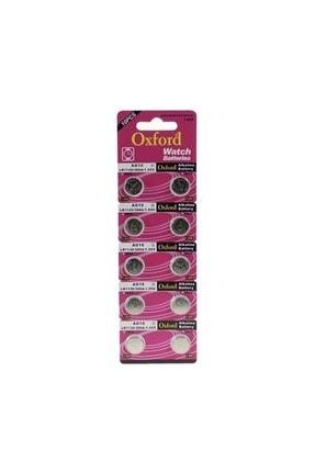 Oxford Ag10 Lr1130 389 Alkaline Düğme Pil 10 Adet Oxf-ag10-10lu