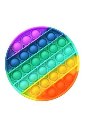 Başel Toys Pop It Push Bubble Fidget Özel Pop Duyusal Oyuncak Zihinsel Stres ( Gökkuşağı / Rainbow )