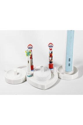 dream3d Şarjlı Diş Fırçaları Ve Başlıkları İçin Stand / 2 Fırça 1 Şarj 4 Başlık İçin Oral-b Uyumlu