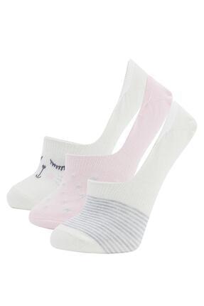 DeFacto Kadın Desenli Babet Çorap 3'lü