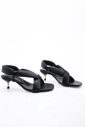 Marjin Kadın Parmak Arası Topuklu Sandalet Eltazsiyah