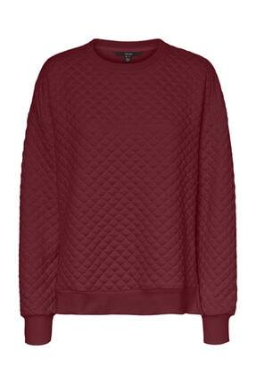 Vero Moda Kadın  Yanları Yırtmaçlı Uzun Kollu Sweatshirt 10234763 Vmcayle