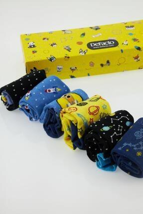 DeFacto Erkek Çocuk Kutulu Desenli 6'lı Soket Çorap