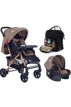 4 Baby Active Bebek Arabası Gold Kahve Travel Puset Termal Çanta