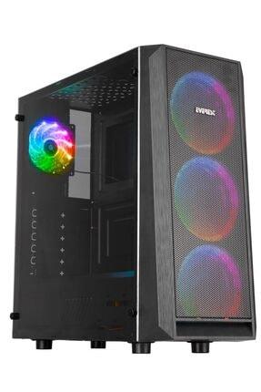 Everest Rampage X-mesh 4x Rainbow Fanlı Gaming Oyuncu Bilgisayar Kasası + 500w Power Supply Güç Kaynağı