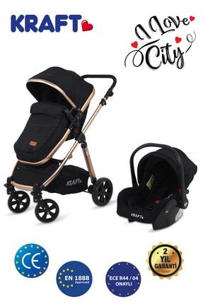 Kraft City Travel Sistem Bebek Arabası Siyah