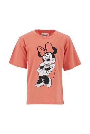 DeFacto Kız Çocuk Minnie Mouse Lisanslı 3d Dolgulu Kısa Kol Tişört