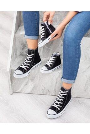 ESPARDİLE Unisex Bebek Siyah Uzun Spor Ayakkabı