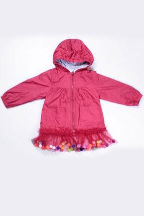 Supriz Sepeti Kız Çocuk Kırmızı  Ponponlu Yağmurluk Rüzgarlık