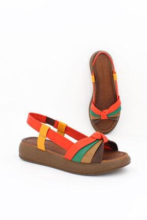 Deripabuc Hakiki Deri Multi2-t Kadın Deri Sandalet Dp-1841