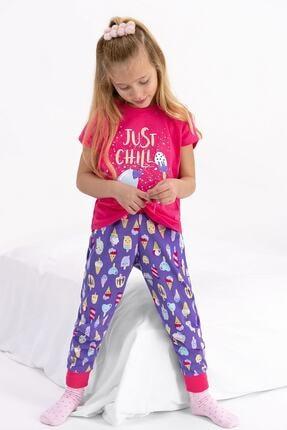 ROLY POLY Kız Çocuk  Fuşya Kısa Kol Pijama Takımı