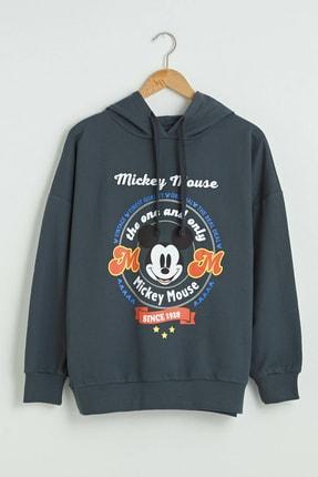 LC Waikiki Mickey Mouse Kadın Antrasit Rfl Sweatshirt XSIDE Koleksiyonu