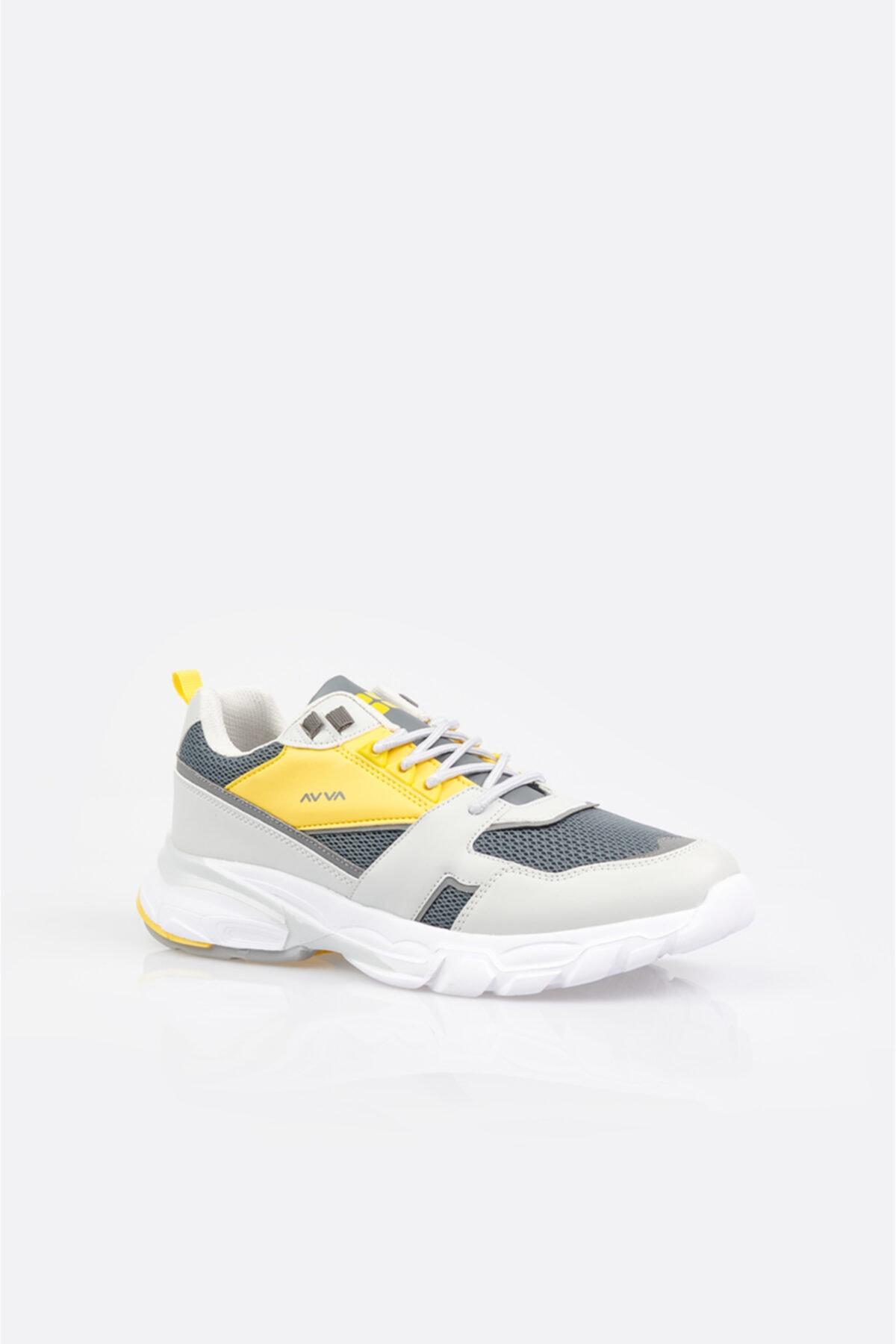 Avva Erkek Gri Garnili Spor Ayakkabı A11y8012 1