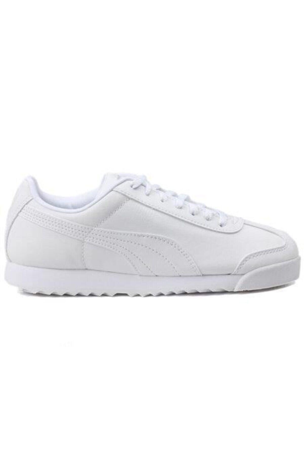 Puma ROMA BASIC JR-2 Beyaz Erkek Çocuk Sneaker Ayakkabı 100257200 1