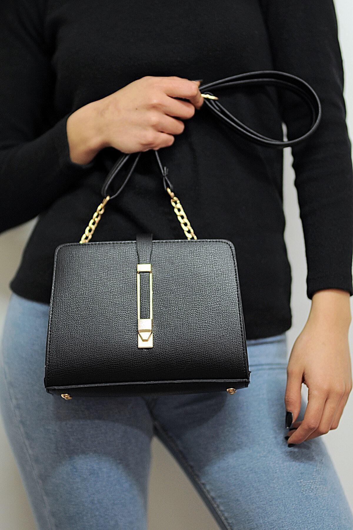 ALTEKS AKSESUAR Kadın Siyah Şık Ve Kullanışlı Çanta 1