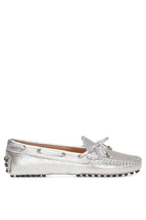 Nine West HOLT3 1FX Gümüş Kadın Loafer Ayakkabı 101031261