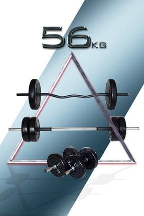 Fitset 56 Kg Z Barlı Halter Seti Ve Dambıl Seti Ağırlık Fitness Seti