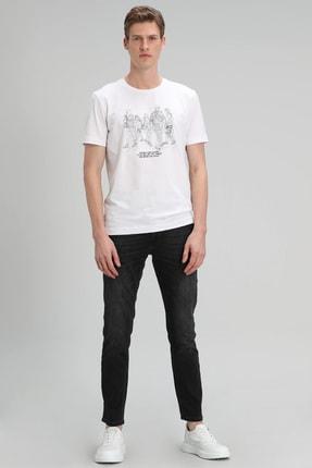 Lufian Colors Modern Grafik T- Shirt Beyaz
