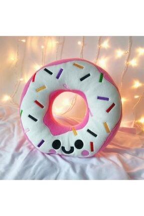 DÜKKAN DESİGN Sevimli Pembe Donut Yastık