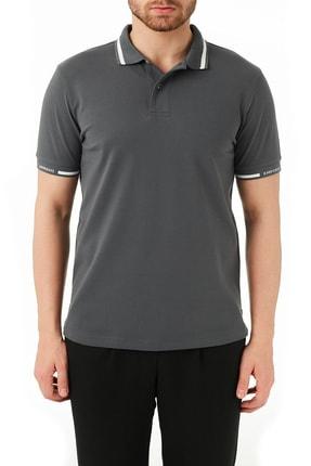 Emporio Armani Erkek Antrasit Pamuklu Düğmeli Polo T Shirt 3k1fa4 1jptz 0628