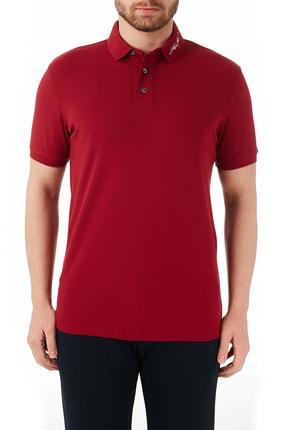 Emporio Armani Erkek Kırmızı Pamuklu Düğmeli Polo T Shirt 3k1fa6 1jptz 0370