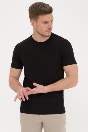 Pierre Cardin Siyah Slim Fit Bisiklet Yaka Basic T-Shirt
