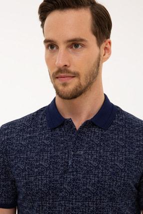 Pierre Cardin Lacivert Slim Fit Polo Yaka T-Shirt
