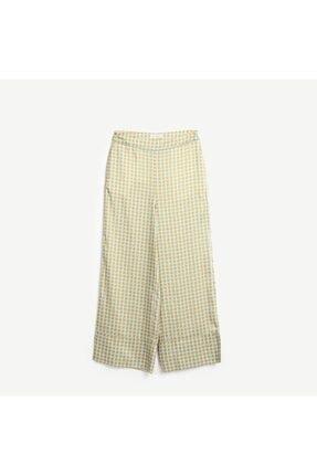 Yargıcı Kadın Sarı Detalı Pantolon