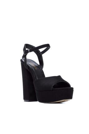 KEMAL TANCA Kadın Siyah Vegan Abiye Ayakkabı