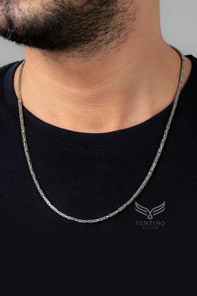 Ventino Silver Kral 925 Ayar Gümüş Erkek Zincir Kolye Vek-3008