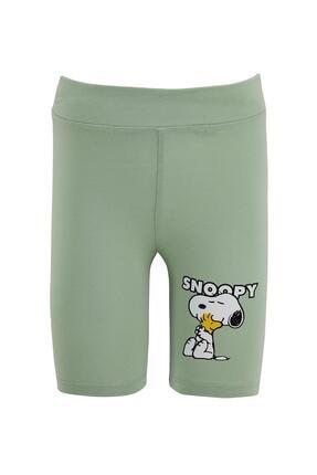 DeFacto Kız Çocuk Snoopy Lisanslı Kısa Tayt