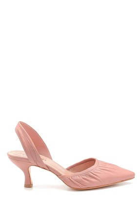 Derimod Kadın Pembe Deri Topuklu Sandalet