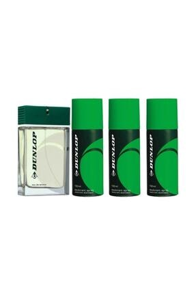 DUNLOP Yeşil Erkek Parfüm 100 Ml +  Erkek Deodorant 150 Ml Avantajlı Set