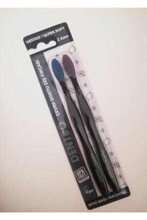 Humble Brush Dentbo Bitki Bazlı Hassas 2 Li Çevre Dostu Diş Fırçası / Mavi-mor