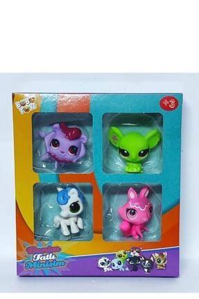 MY LITTLE PONY Littlest Pets Shop Minişler 4 Lü Oyuncak Miniş Ailesi