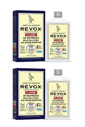 Revox At Kuyruğu Bitki Özlü Saç Dökülmelerine Karşı Çok Etkili Şampuan 2 Li Set 400 ml