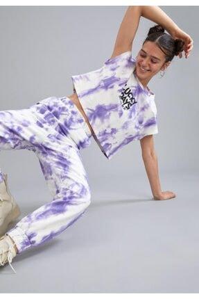 DeFacto Coool Gotik Baskılı Batik Vatka Kollu Relax Fit Tişört
