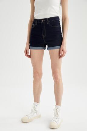 DeFacto Katlama Detaylı Slim Fitmini Jean Şort