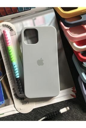 Mislina Iphone 12 Ve 12 Pro Ile Uyumlu Logolu Lansman Kılıf+kablo Koruyucu