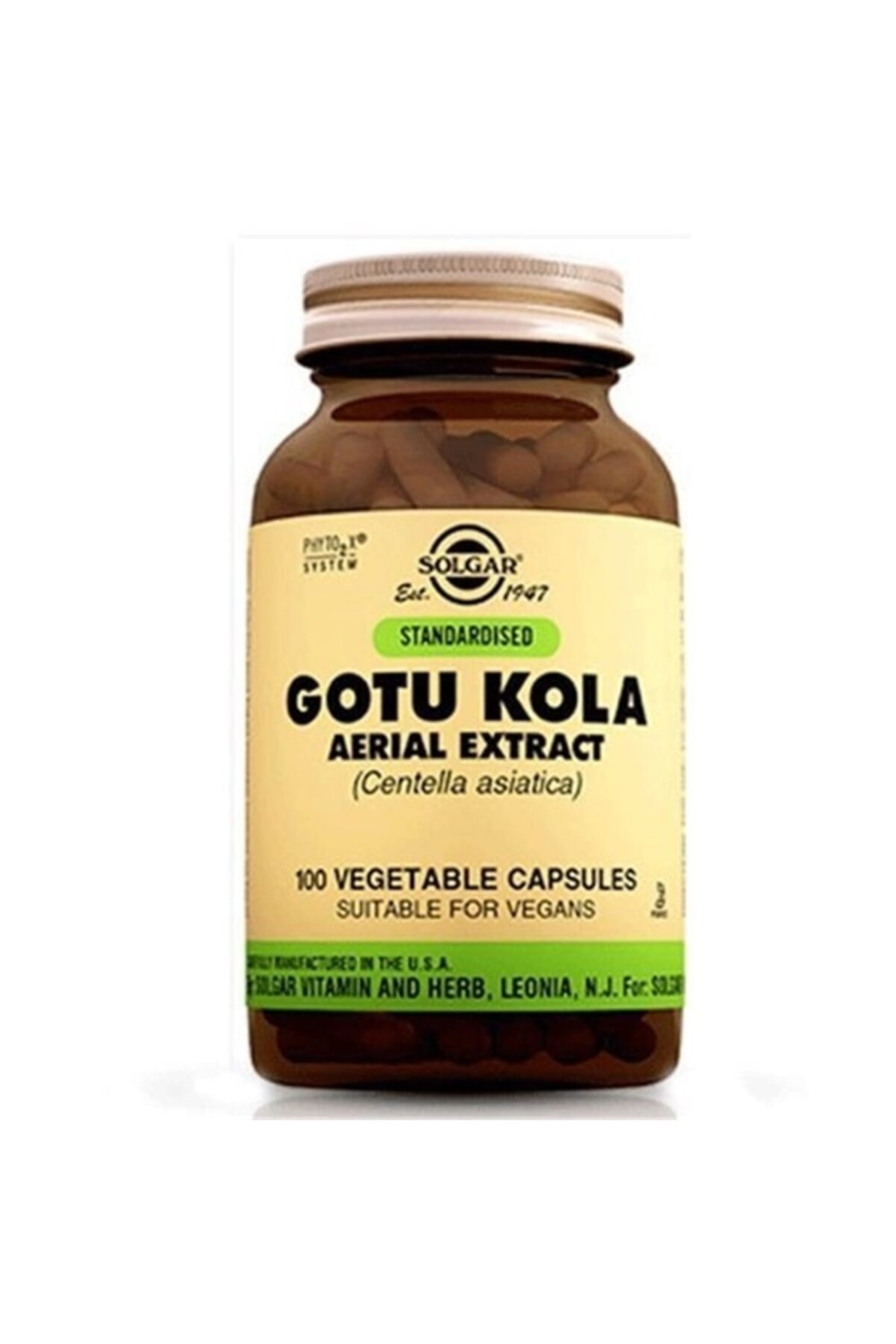 Solgar Gotu Kola Aerial Extract 100 Kapsül 1