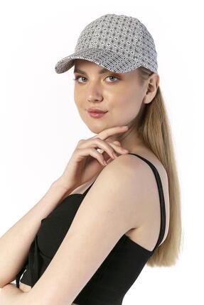 Y-London 14047 Etnik Desen Beyaz Baseball Şapka